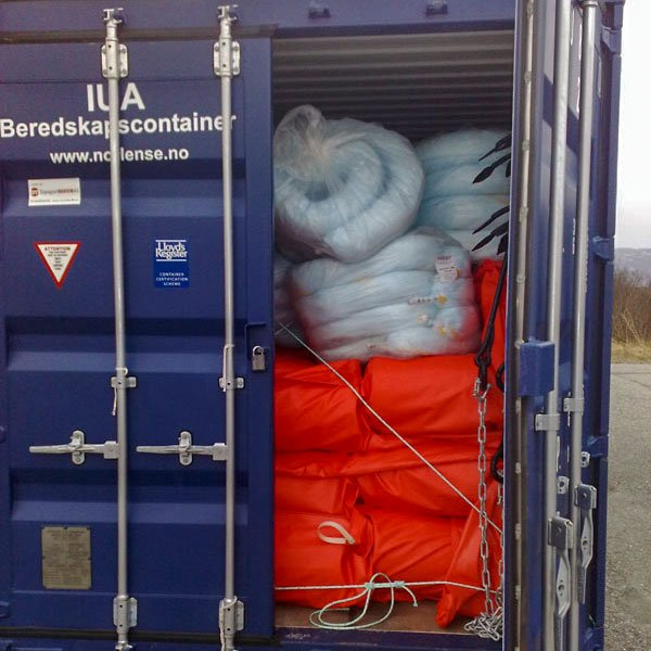 container med saneringsutstyr fra Norlense